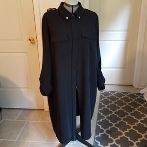 Michael Kors black utility shirt dress 3X